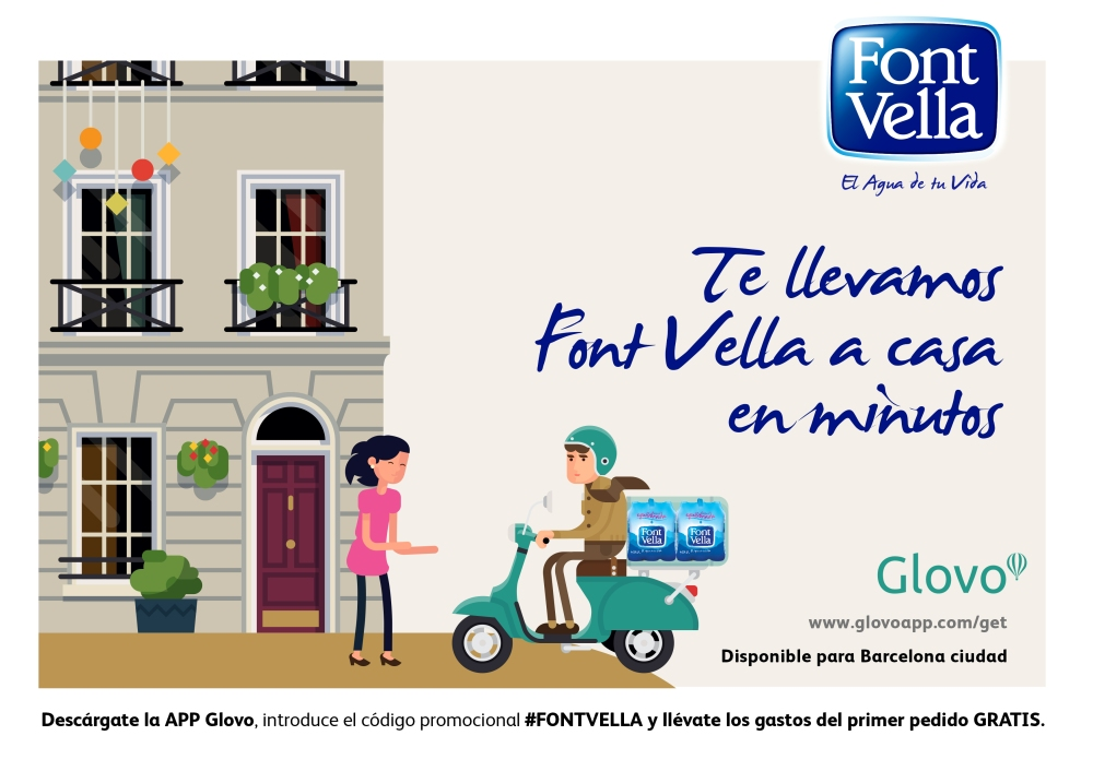 Glovo y Font Vella